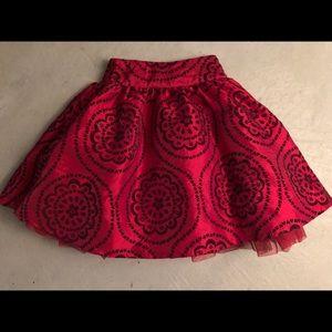 Beautiful girls red holiday skirt layered sz 5